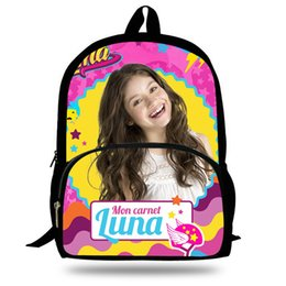 1d40e99c845 Custom Made Backpacks NZ - Soy Luna Girl Bag Princess Children Schoolbags TV  Show Shoulder Bags