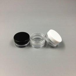 Mini Balm Lips Canada - 1ML Plastic Clear Empty Jar 1G Cosmetic Mini Pot Acrylic Make-up Eyeshadow Lip Balm Nail Art Piece Container Bottle Travel Sample Size