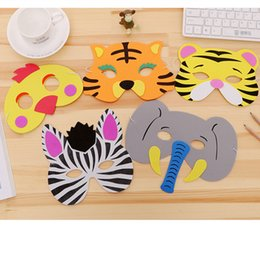 Kids Halloween Party Decorations Australia - 8pcs Safari Party EVA Foam Animal Masks Jungle Party Supplies Happy Birthday Decorations Kids Favors Halloween Decor