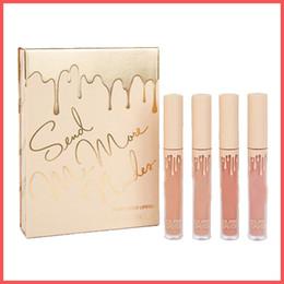 Envío gratis por ePacket Nueva marca de cosméticos Enviarme más Nudes MATTE Liquid Lipstick Colección de vacaciones Velvet Matte Lip Gloss Kit 4pcs