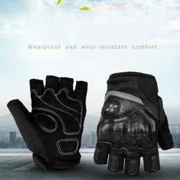 $enCountryForm.capitalKeyWord NZ - Motorcycle Parts Half Finger Knight Locomotive Protective Gloves Strong Anti-drop Anti-skid Wear Thickened Cycling Protection