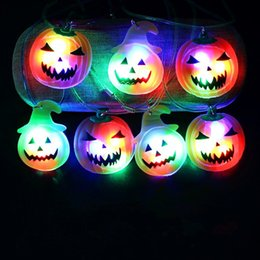 plastic pumpkin toy Canada - Toys & Gift LED Light Necklace Halloween Pumpkin Christmas Santa Claus Pendants For Child Flash Pendant Necklaces Glow In The Dark XXP69