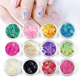 $enCountryForm.capitalKeyWord Australia - Yinikiz 2018 New Product 12 Colors Shell Pieces DIY Beauty Nail Art Decals Irregular Manicure Decoration Sequin Set