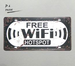 "$enCountryForm.capitalKeyWord UK - DL-""FREE WIFI"" HOTSPOT License plate Vintage Tin sign shabby chic COFFEE SHOP PUB wall decals"