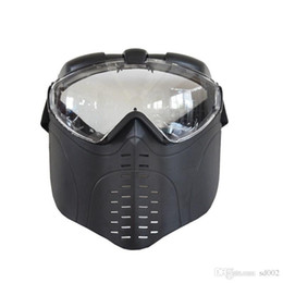fan goggle 2019 - New MARUI Fan Full Face Mask Tactics Field Operations Antifogging Masks With Ventilated Goggle Light Small 24 5jn cc che