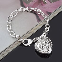 $enCountryForm.capitalKeyWord Australia - Factory Wholesale Jewelry Bracelet Plated Silver For Men Women Hollow Out The Stereo Hearts Crude Bracelets Bangle Bands Wristband