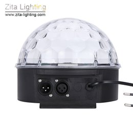dmx512 led crystal ball Canada - Zita Lighting Mini Crystal Magic Ball Moving Rotating DJ Disco Ball RGB LED Stage Lighting Effect Sounds Control DMX512 Wedding Dance Party