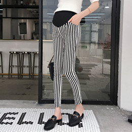 0201c47182573 Striped Maternity Skinny Legging Summer Fashion Pants for Pregnant Women  Elastic Waist Belly Pregnancy Thin Bottoms