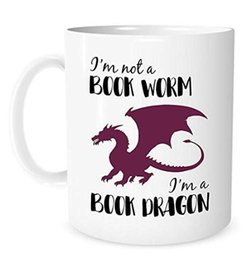 Chinese  I'm Not A Book Worm, I'm A Book Dragon - 11 Ounce White Ceramic Coffee or Tea Mug - Bookish, Mug for book Lover, Gift for Reader, Literary g manufacturers