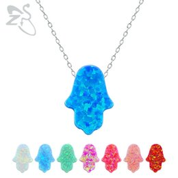 Coined neCklaCes online shopping - Opal Hamsa Choker Necklace Fatima Hand Pendant Necklace Natural Opal Stone Israel Jewish Jewelry Sterling Silver Jewelry