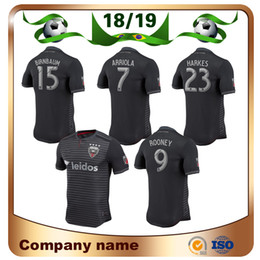 18 19 Fan version DC United Soccer Jersey 2019 MLS Home Negro   9 ROONEY  Camisetas de fútbol ACOSTA HARKES ARRIOLA STIEBER Uniforme de fútbol 448a423da3e8d