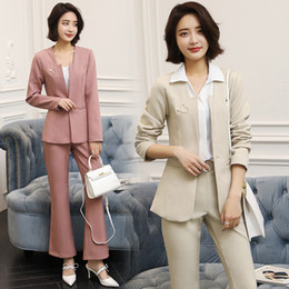 1551b0b75f Customized new hot women s suit fashion temperament small suit long-sleeved  casual women s two-piece suit (coat + pants)