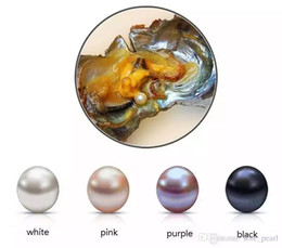 Wholesale fresh Water pearl online shopping - Oval Oyster Pearl new mm mix color Fresh water Natural pearl Gift DIY gift Loose Decorations Vacuum Packaging in stock
