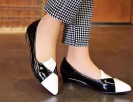 $enCountryForm.capitalKeyWord NZ - Free send 2018 spring new style Low help Shallow mouth pointed end Blue Patchwork women's shoes