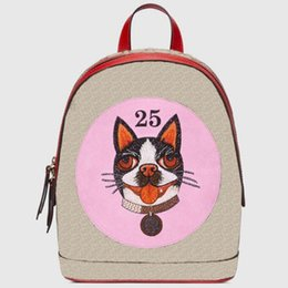 China Fashion Dog Backpack Women Leather Bags New Brand Designer Back Pack Luxury Bag Backpacks Ladies Red Black Brown g1819 online Sale suppliers