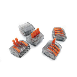 $enCountryForm.capitalKeyWord NZ - 10PCS 222-414 PCT-214 type Universal Compact 4 wire connector Lever Nuts 4 Conductor Compact Wire Connector Wiring Adapter
