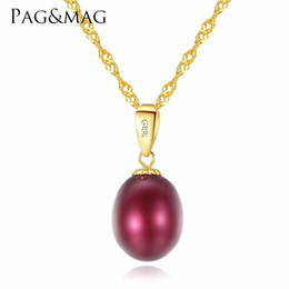 $enCountryForm.capitalKeyWord NZ - PAG&MAG Elegant 18K Yellow Gold Natural Freshwater Pearl Pendant Necklace 45cm Gift For Women Wedding Or Party Y1892806