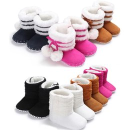 $enCountryForm.capitalKeyWord Australia - Baby Girl Kids Winter Warm Fleece Knitted Snow Boots Booties Toddler Infantil Anti-Slip Mocassins Crocheted Boots Shoes