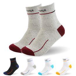 Deodorization Socks Canada - Men Socks High Elasticity Mountain Stripe Man 'S Sock Blue White Deodorization Breathable Cycle Cotton Socks 5paris  Lot