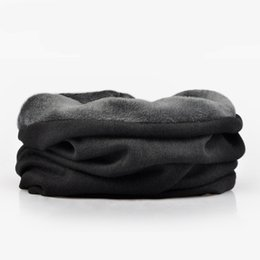 $enCountryForm.capitalKeyWord UK - Wuaumx Autumn Winter Hats For Women and Men Warm Ring Scarf Plus Velvet Beanies Hat Men ponytail beanie Solid bonnet 15Colors