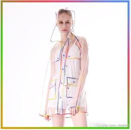 $enCountryForm.capitalKeyWord Australia - New Transparent Raincoat With Belt Long Rain Coat Women Jacket Waterproof Windbreaker Hooded Poncho Outdoors Rainwear