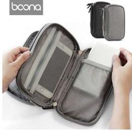 $enCountryForm.capitalKeyWord Australia - Boona Oxford Fabric Hard Disk Storage Bag Electronic Organizer iPhone Protective Bag USB Organizer Case Insert Case