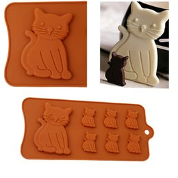 cat silicone mould 2019 - 3D Cat Silikon Form 7 Cavity Silicone Molds Chocolate Cake Decorating Tools Kitchen Pastry Tools Baking Confeitaria Moul