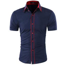 $enCountryForm.capitalKeyWord Australia - Brand 2018 Fashion Male Shirt Short-Sleeves Tops Double Collar Button Design Mens Men Shirt 2XL