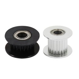 $enCountryForm.capitalKeyWord NZ - 10pcs GT2 Idler Timing Pulley DIY Aluminum Drive 20 Tooth Bore 5mm H Type Passive Synchronous Wheel Gear Width 10mm Black Silver