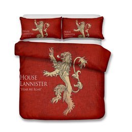 Discount machines houses - HBO Song of Ice and Fire Game of Thrones 3D Printed Bedding Sets Lannister House Duvet Cover