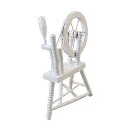China 1:12 scale doll house miniature hand reeling machine wooden spinning wheel supplier machines houses suppliers