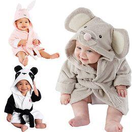 Infant Modeling NZ - 2016 New Baby Kids Hooded Animal Modeling Cloak Long Sleeve Baby Bathrobe Cartoon infant bath towel