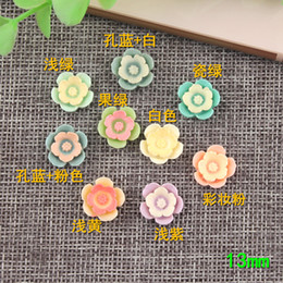 $enCountryForm.capitalKeyWord NZ - 13mm Double colored DIY resin flower charms mobile phone shell beauty material children hand clip hair rope accessories