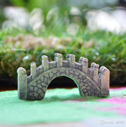 clay blocks 2019 - Arch Bridge Moss Micro Landscape Ornament Bonsai Di Material Succulent Plants Ornaments Landscaping Mini Easy Carry 0 85