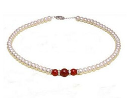 AbAcus chArms online shopping - AS4265 Charm Fashion Jewelry necklace mm abacus cultivate pearl red stone Necklack