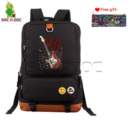 $enCountryForm.capitalKeyWord Canada - Punk Guitar Backpack Women Men Computer BackpacHip Hop School Bags for Teenagers Boys Girls Rock Travel Ruckack Case Gift