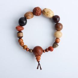 Natural Bodhi Bracelet Australia - Charm Natural Wild Eighteen Bodhi Beads Bracelets Unisex 18 Seeds Buddhism Religious Strand Bracelets Drop Shipping