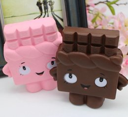 Discount squishy chocolate - Soft Squishy Chocolate Toy Phone Strap Slow Rising Relieves Stress Anxiety Cabinet Decor Kids Gift Keychain