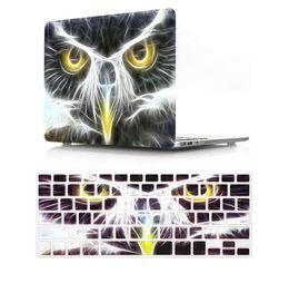 macbook sleeve waterproof 2019 - Eagle 2 in 1 keyboard cover and waterproof hard case sleeve for macbook air pro 13 15 17 12 inch case discount macbook s