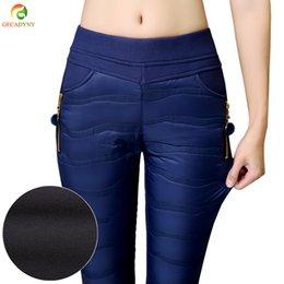 81c1e06a87153 8 Photos Pantalon slim femme en Ligne-Taille Plus S-4XL Femmes Taille  Moyenne Pantalon Épaisse