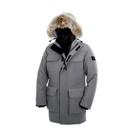 Jacket Down Designer Canada - 2018 Fashion Warm Ski winter jacket Men's Designer Hooded Wolf gross Coat Brand Jackets For Men Anorak Padded Parkas High Quality Down jacke