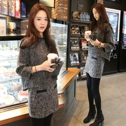 $enCountryForm.capitalKeyWord NZ - Fashion Women Sweater Skirt Set Spring Autumn Tops+Mini Skirts Europe Slim Long Sleeve Knitted Suit Twinset Women Clothing D18110503