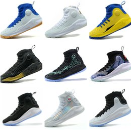 7803973ded5670 2018 New Stephen Curry 4 Basketball Shoes stephen Mens Curry 4 Gold  Championship MVP Finals Sports training Sneakers Running Shoes Size 7-12