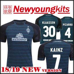 d2d3465e3 2018 19 Werder Bremen soccer Jersey 18 19 away Dark blue Football uniforms  Claudio Pizarro shirt