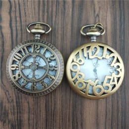 unique watches Australia - GENBOLI Unique Men Women Vintage Pocket Watch Roman Numerals Fob Watch Glass Dial Necklace Pendant Clock Time With Chain