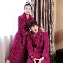 476d5c9d77 Women Extra Long Soft as Silk Flannel Bath Robe Femme Winter Warm Bathrobe  Bride Kimono Dressing Gown Bridesmaid Robes Wedding