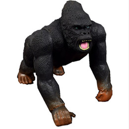 Skull Kid Figure Australia - No Box 19CM M Kong Skull Island Action Figure Wildlife Gorilla Movable Toy Figures Collectible Tarzan Model Brinquedos Gift
