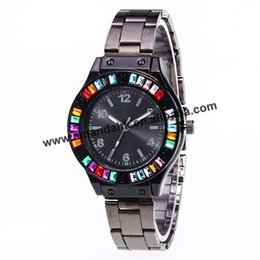 Wrist Watches Logos Australia - 2019 Wholesale Colorful Rhinestone Metal Alloy Watches Hot Sale Women Dress Wrist Watches No Logo Metal Wrist 919513