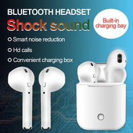 Discount wireless headphones mic for phone - IFANS True Twins Earbuds Mini Wireless Bluetooth Earphones PK i7S I8 TWS Air Headsets With Mic Pods Stereo Headphones Fo