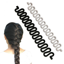 Discount braided buns black hair - 100pcs lot Women Fashion DIY Hair Braiding Braider Tool Roller With Magic Hair Twist Styling Bun Maker for Girls